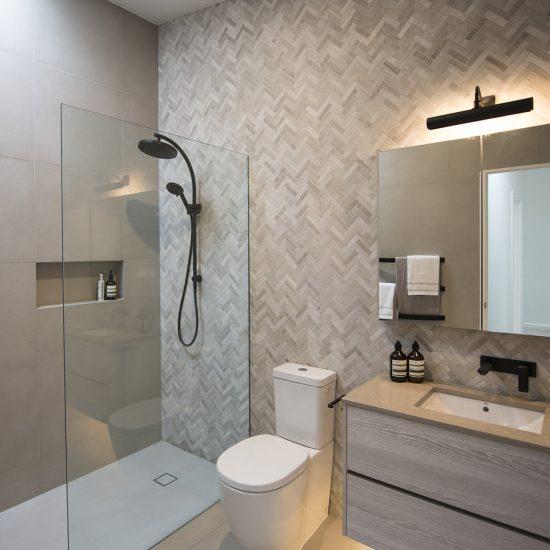 Natasha Walker Interiors Carlton Bathroom design tiles cabinetry bathroom fixtures